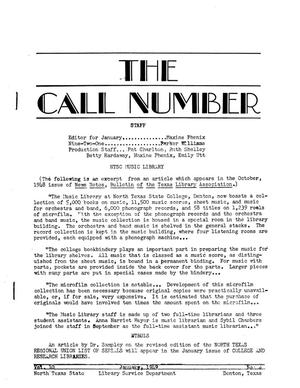 The Call Number, Volume 10, Number 4, January 1949