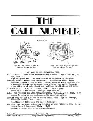 Primary view of object titled 'The Call Number, Volume 10, Number 5, February 1949'.