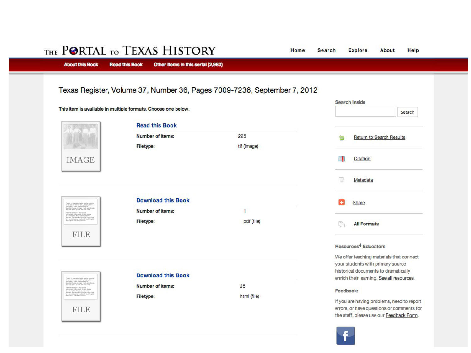 The Portal to Texas History: Technology Overview                                                                                                      [Sequence #]: 18 of 73