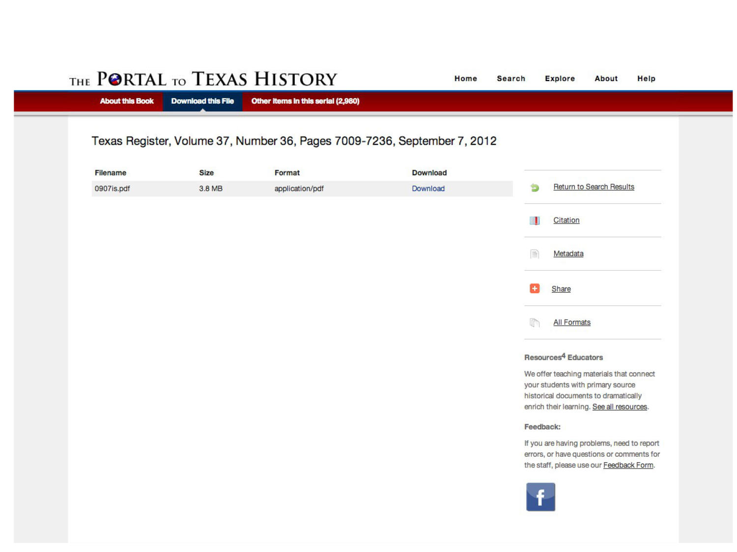 The Portal to Texas History: Technology Overview                                                                                                      [Sequence #]: 20 of 73