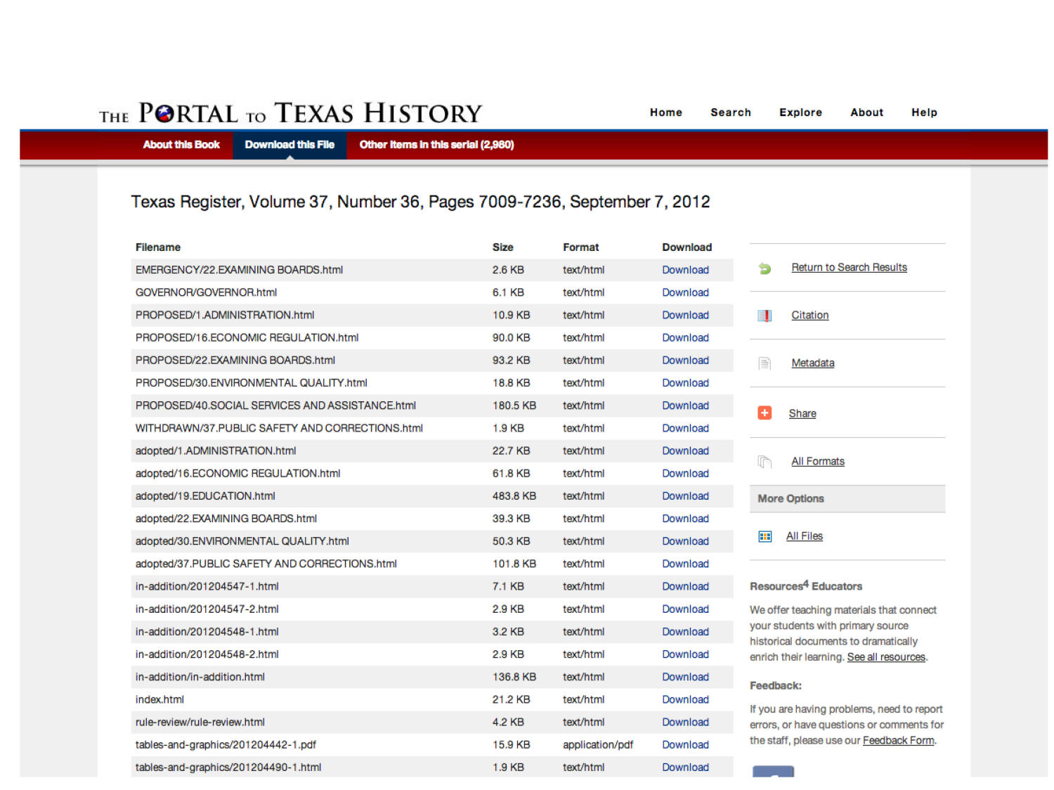 The Portal to Texas History: Technology Overview                                                                                                      [Sequence #]: 21 of 73