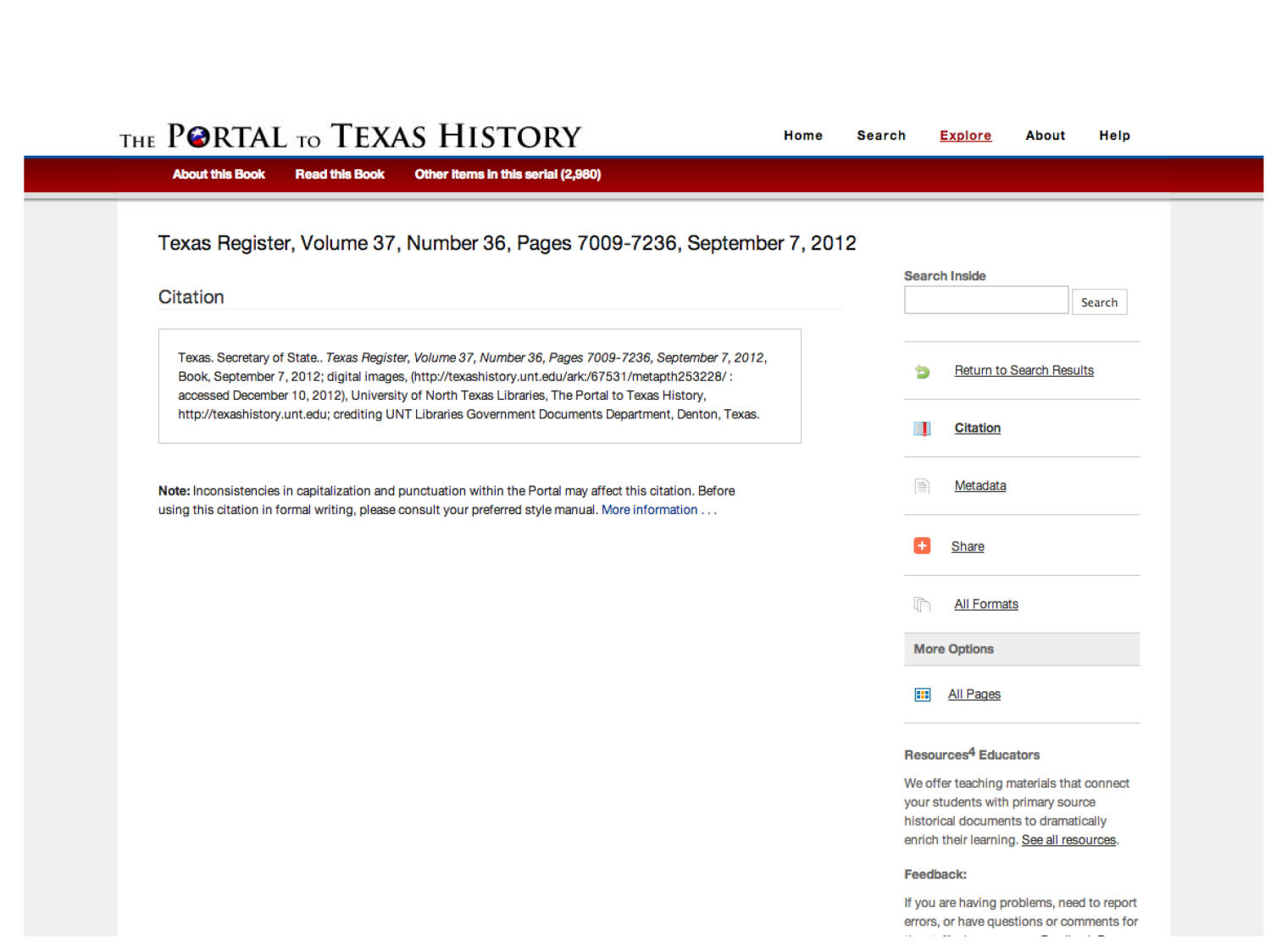 The Portal to Texas History: Technology Overview                                                                                                      [Sequence #]: 24 of 73