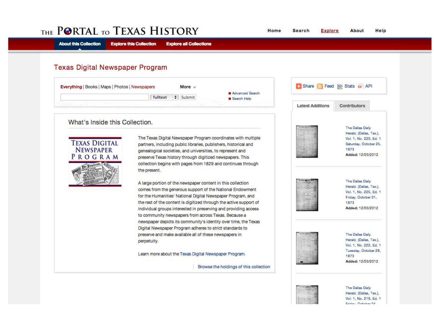 The Portal to Texas History: Technology Overview                                                                                                      [Sequence #]: 54 of 73