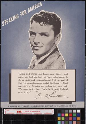 Primary view of object titled 'Speaking for America ... Frank Sinatra.'.