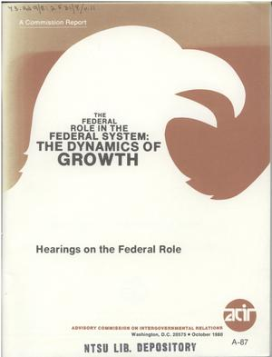Hearings on the Federal role