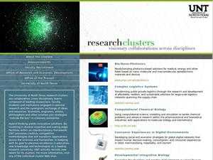 Primary view of object titled 'Research Clusters: Visionary Collaborations Across Disciplines'.