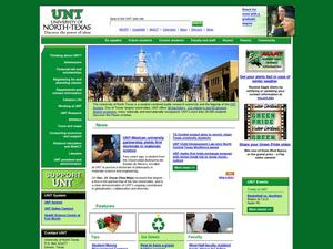 Primary view of object titled 'University of North Texas'.