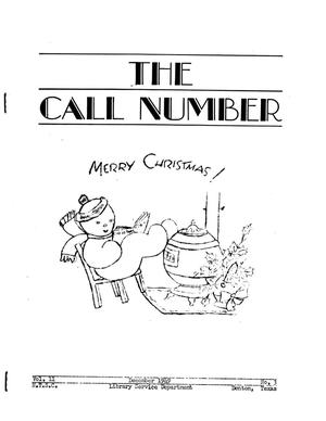The Call Number, Volume 11, Number 3, December 1949