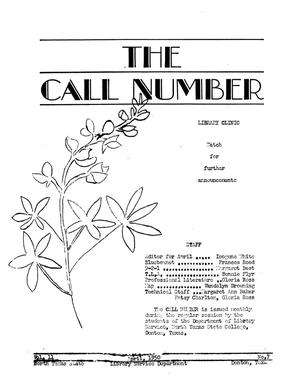 The Call Number, Volume 11, Number 7, April 1950