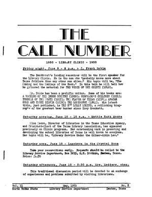 The Call Number, Volume 11, Number 8, May 1950