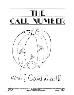 The Call Number, Volume 12, Number 1, October 1950