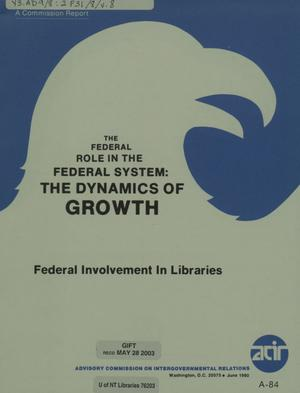 Federal involvement in libraries
