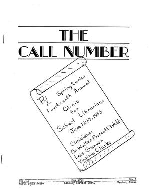 The Call Number, Volume 14, Number 8, May 1953