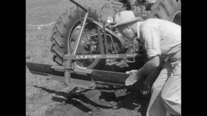 Primary view of [News Clip: Texan invents farm machinery]