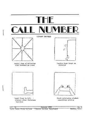 Primary view of object titled 'The Call Number, Volume 16, Number 4, January 1955'.