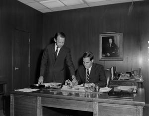 Primary view of [Two men in an office]