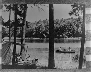 Primary view of [People socializing by the lake]