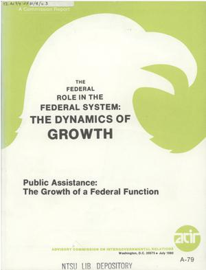 Primary view of object titled 'Public assistance: the growth of a Federal function'.