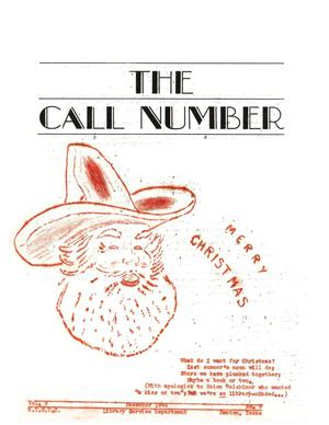 Primary view of object titled 'The Call Number, Volume 6, Number 3, December 1944'.