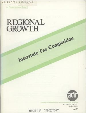 Primary view of object titled 'Interstate tax competition'.