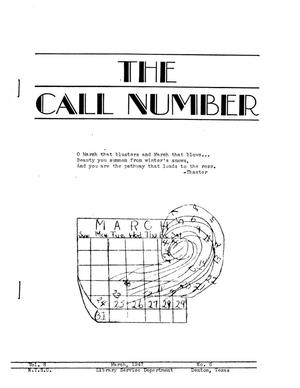 Primary view of object titled 'The Call Number, Volume 8, Number 6, March 1947'.