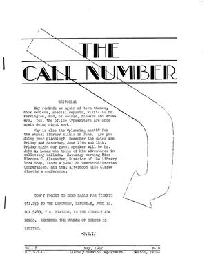 Primary view of object titled 'The Call Number, Volume 8, Number 8, May 1947'.