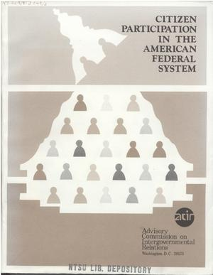 Primary view of object titled 'Citizen participation in the American Federal system'.