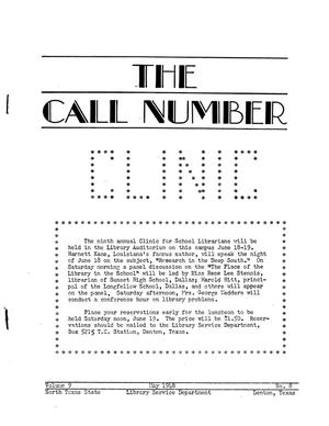 The Call Number, Volume 9, Number 8, May 1948