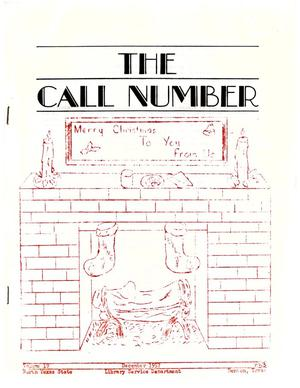 Primary view of object titled 'The Call Number, Volume 19, Number 3, December 1957'.