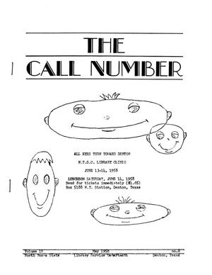 Primary view of object titled 'The Call Number, Volume 19, Number 8, May 1958'.