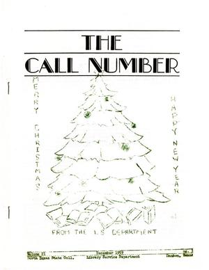 Primary view of object titled 'The Call Number, Volume 21, Number 3, December 1959'.