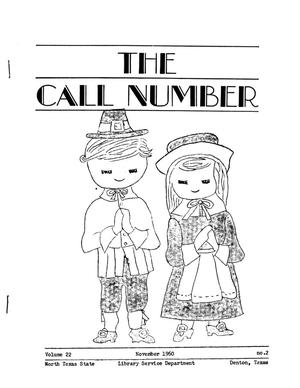 The Call Number, Volume 22, Number 2, November 1960