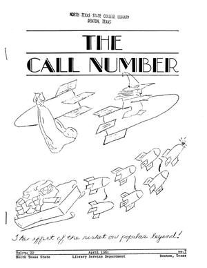 Primary view of object titled 'The Call Number, Volume 22, Number 7, April 1961'.