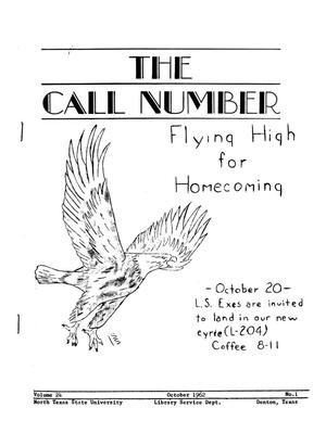 Primary view of object titled 'The Call Number, Volume 24, Number 1, October 1962'.