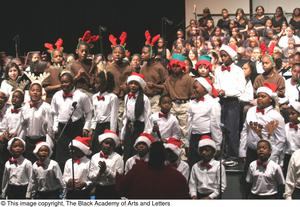 Primary view of object titled '[Christmas/Kwanzaa Concert Photograph UNTA_AR0797-147-045-0009]'.