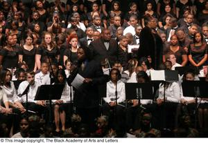 Primary view of object titled '[Christmas/Kwanzaa Concert Photograph UNTA_AR0797-147-045-0111]'.