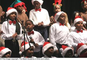 Primary view of object titled '[Christmas/Kwanzaa Concert Photograph UNTA_AR0797-147-045-0004]'.