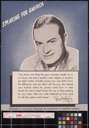 Primary view of object titled 'Speaking for America ... Bob Hope.'.