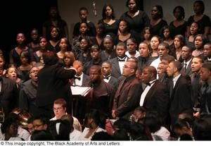 Primary view of object titled '[Christmas/Kwanzaa Concert Photograph UNTA_AR0797-147-045-0048]'.