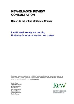Primary view of object titled 'Kew-Eliasch Review Consultation: Report to the Office of Climate Change'.