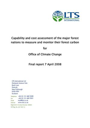 Capability and cost assessment of the major forest nations to measure and monitor their forest carbon