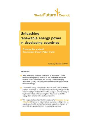 Primary view of object titled 'Unleashing renewable energy power in developing countries: Proposal for a global renewable energy policy fund'.