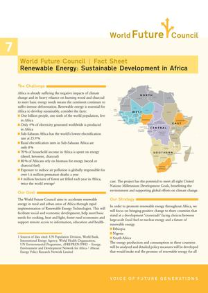 Primary view of object titled 'Renewable Energy: Sustainable Development in Africa'.