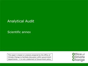 Primary view of object titled 'Analytical Audit: Scientific Annex'.