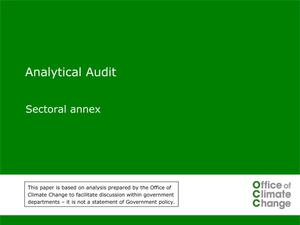 Primary view of object titled 'Analytical Audit: Sectoral Annex'.