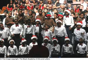 Primary view of object titled '[Christmas/Kwanzaa Concert Photograph UNTA_AR0797-147-045-0014]'.