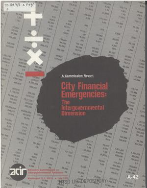 Primary view of object titled 'City financial emergencies: the intergovernmental dimension'.