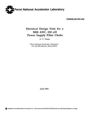 Primary view of object titled 'Electrical design note for a 5000 ADC, 230 {mu}H power supply filter choke'.