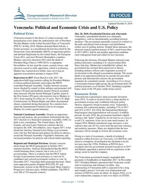 Primary view of object titled 'Venezuela: Political and Economic Crisis and U.S. Policy'.