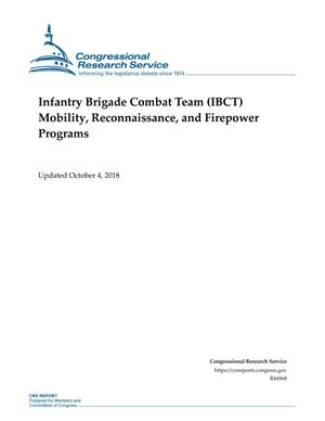 Primary view of object titled 'Infantry Brigade Combat Team (IBCT) Mobility, Reconnaissance, and Firepower Programs'.